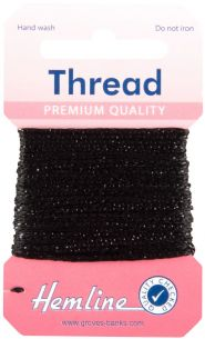 H1002\18 Glitter Thread: 10m - Black